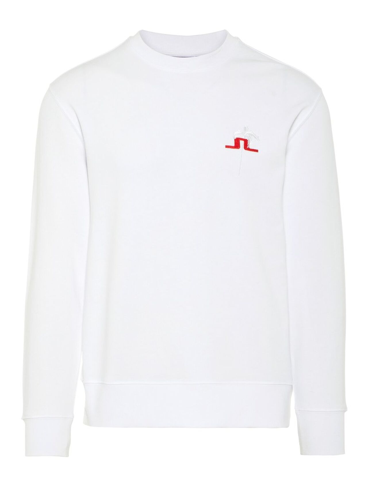 J.LINDEBERG Hurl C-neck Ring Loop Sweat Sweatshirt Man White