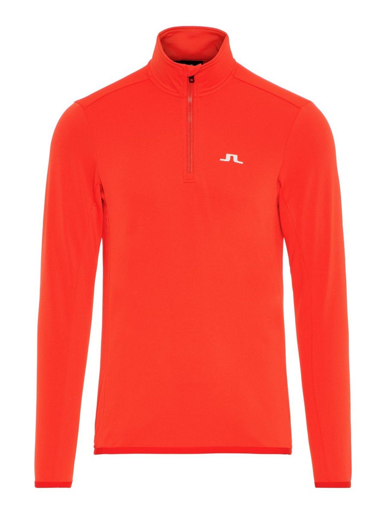 J.LINDEBERG Kimball Half Zip Fieldsensor Sweater Man Röd