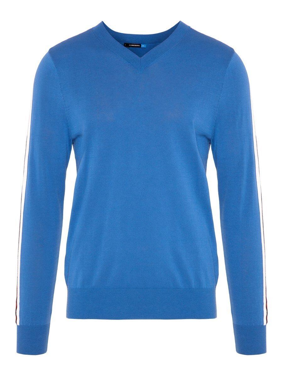J.LINDEBERG M Nolans Pima Cotton Sweatshirt Man Blå