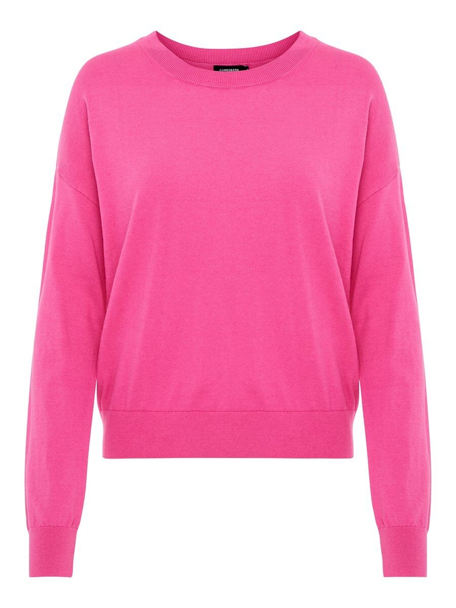 J.LINDEBERG Marion Cotton Silk Sweater Kvinna Rosa
