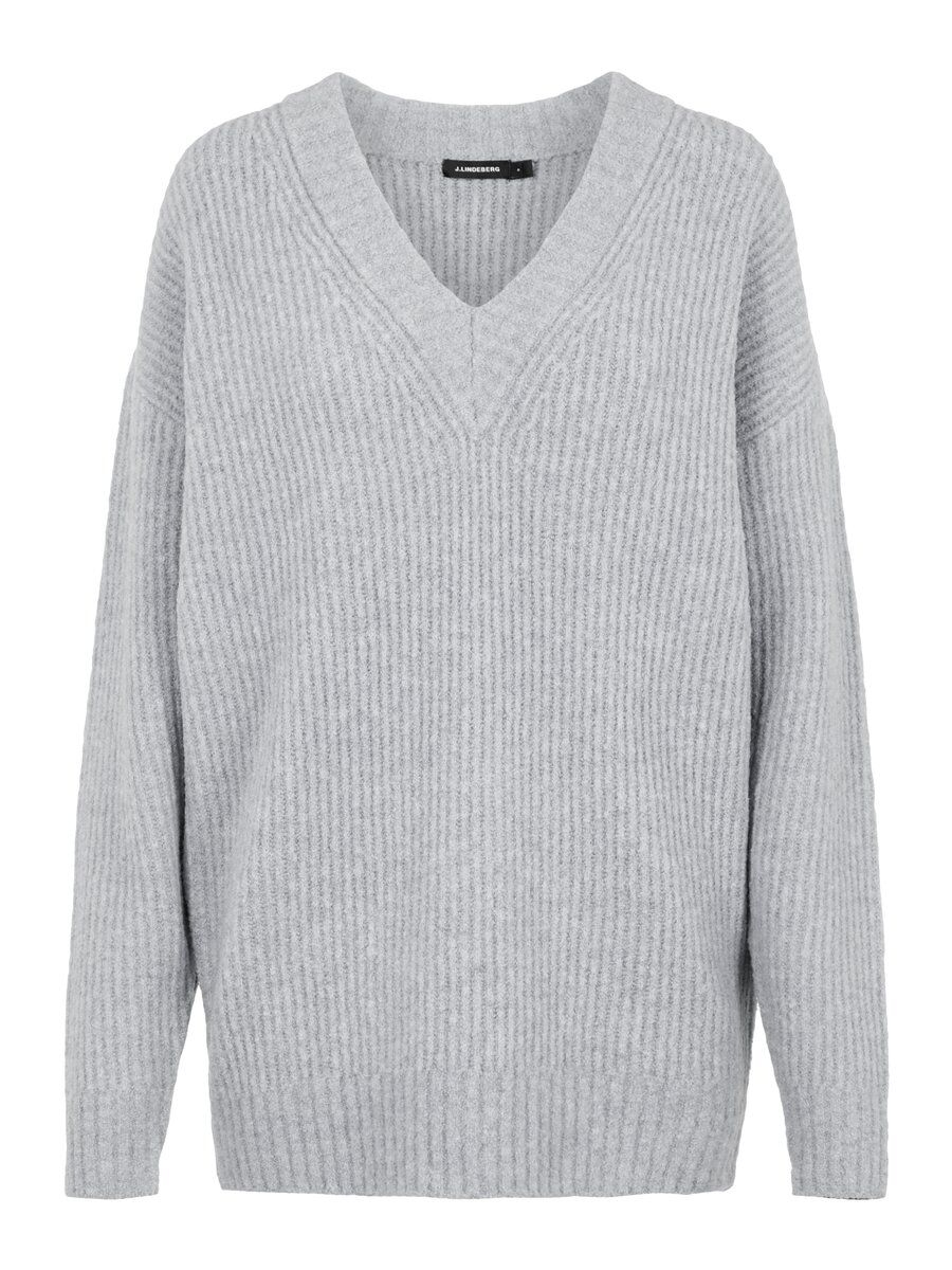 J.LINDEBERG Millie Soft Wool Sweater Kvinna Grå
