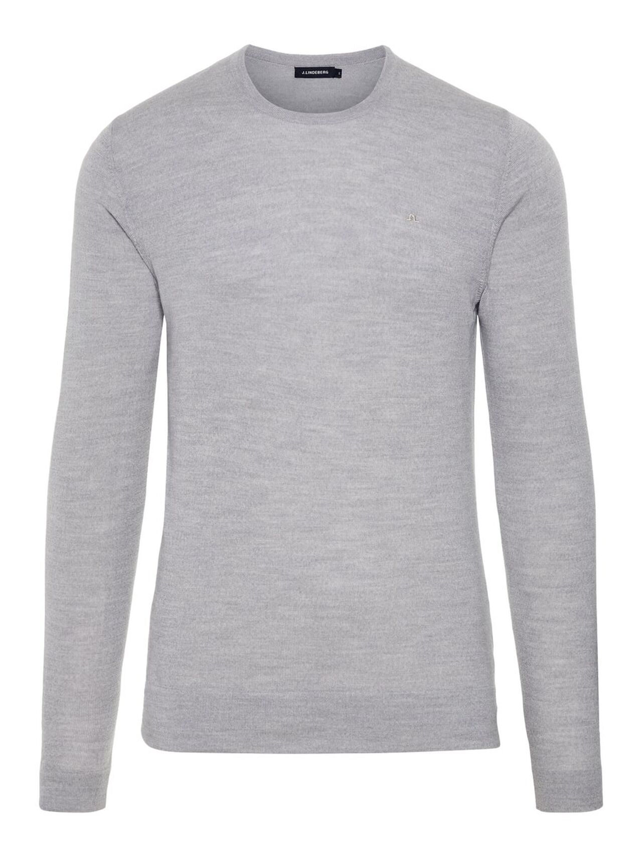 J.LINDEBERG Newman C-neck Perfect Merino Sweater Man Grå