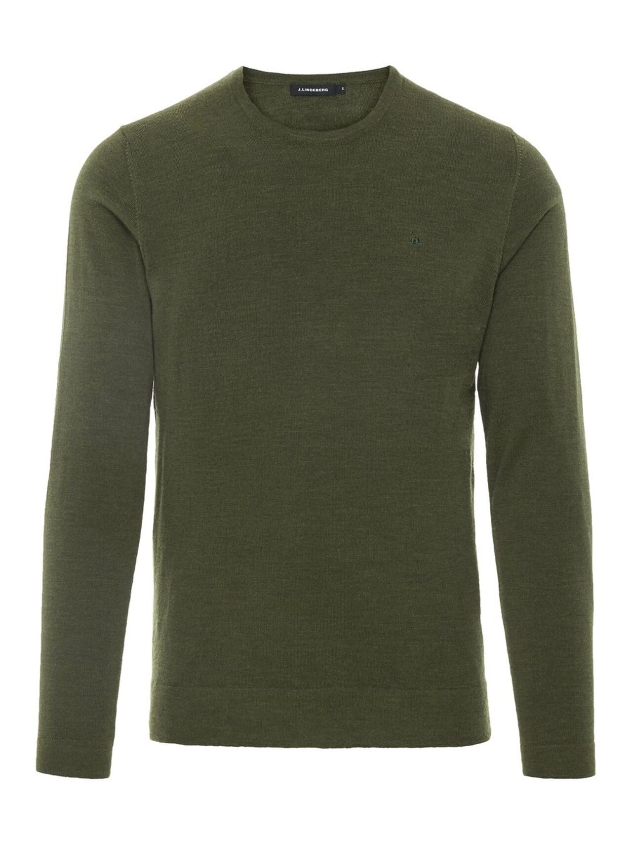 J.LINDEBERG Newman C-neck Perfect Merino Sweater Man Grön