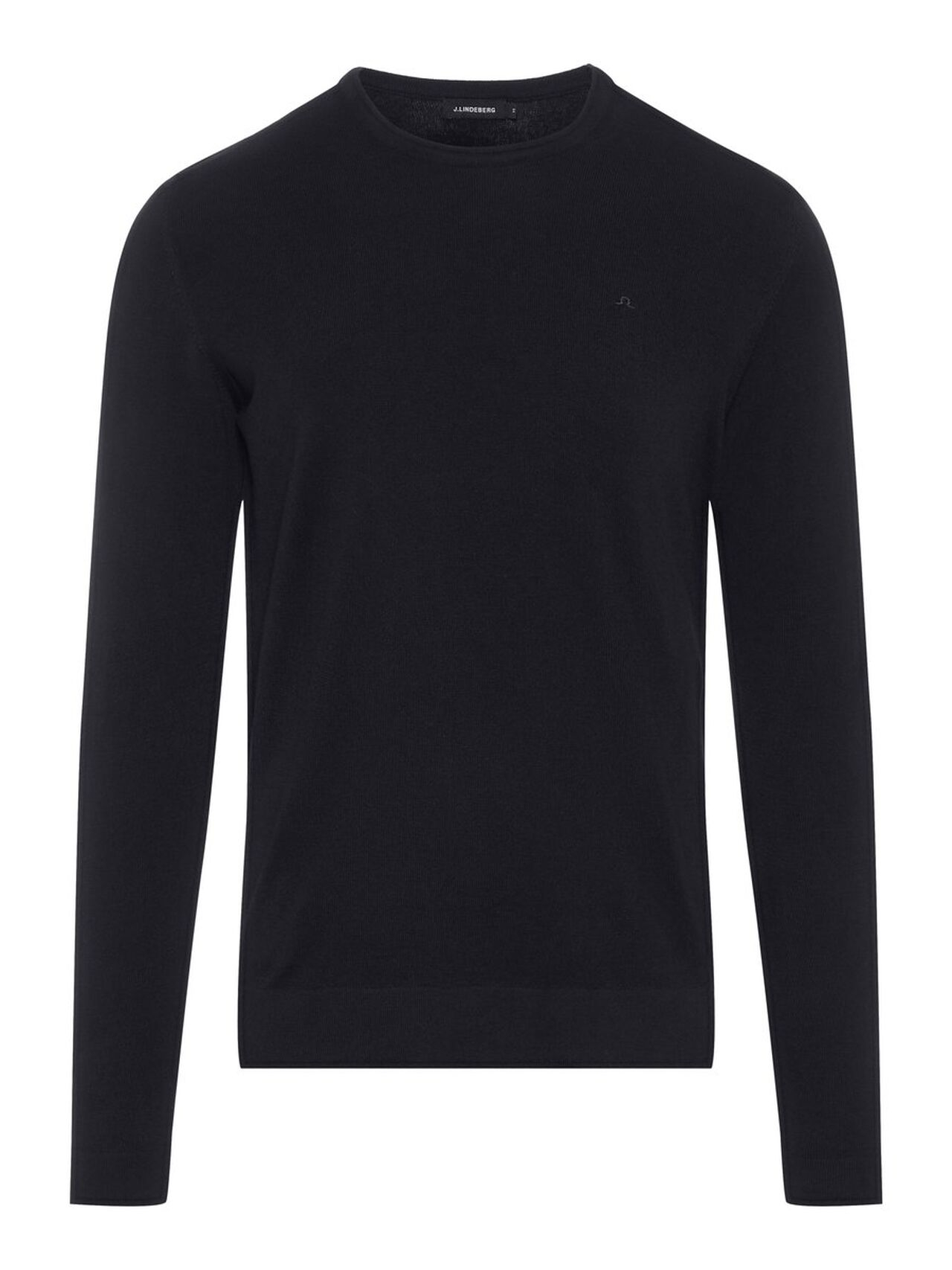 J.LINDEBERG Newman C-neck Perfect Merino Sweater Man Svart