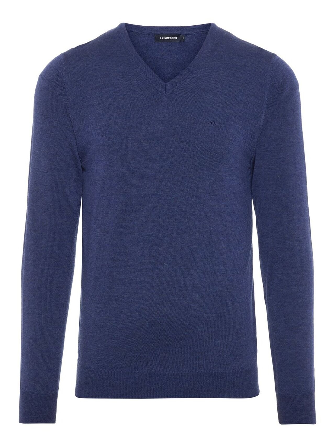 J.LINDEBERG Newman V-neck Perfect Merino Sweater Man Blå