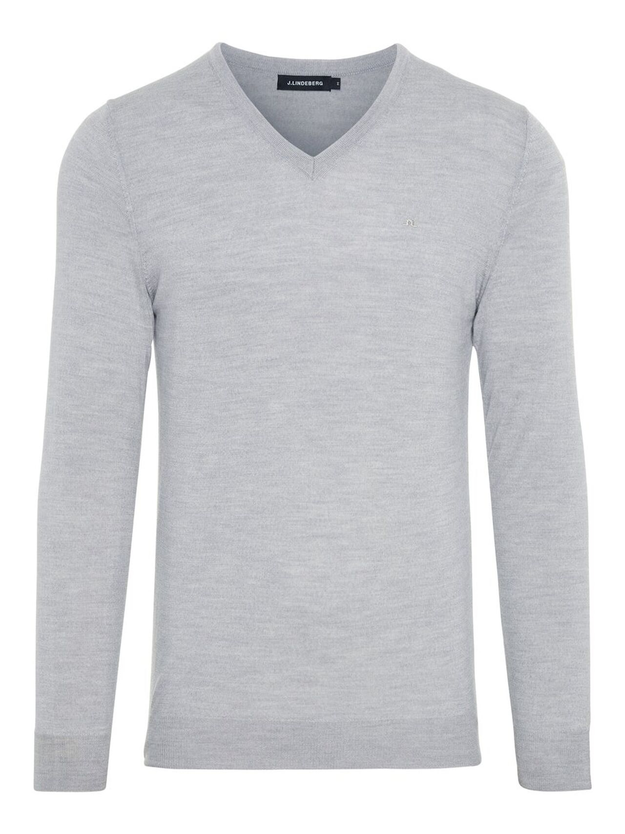 J.LINDEBERG Newman V-neck Perfect Merino Sweater Man Grå