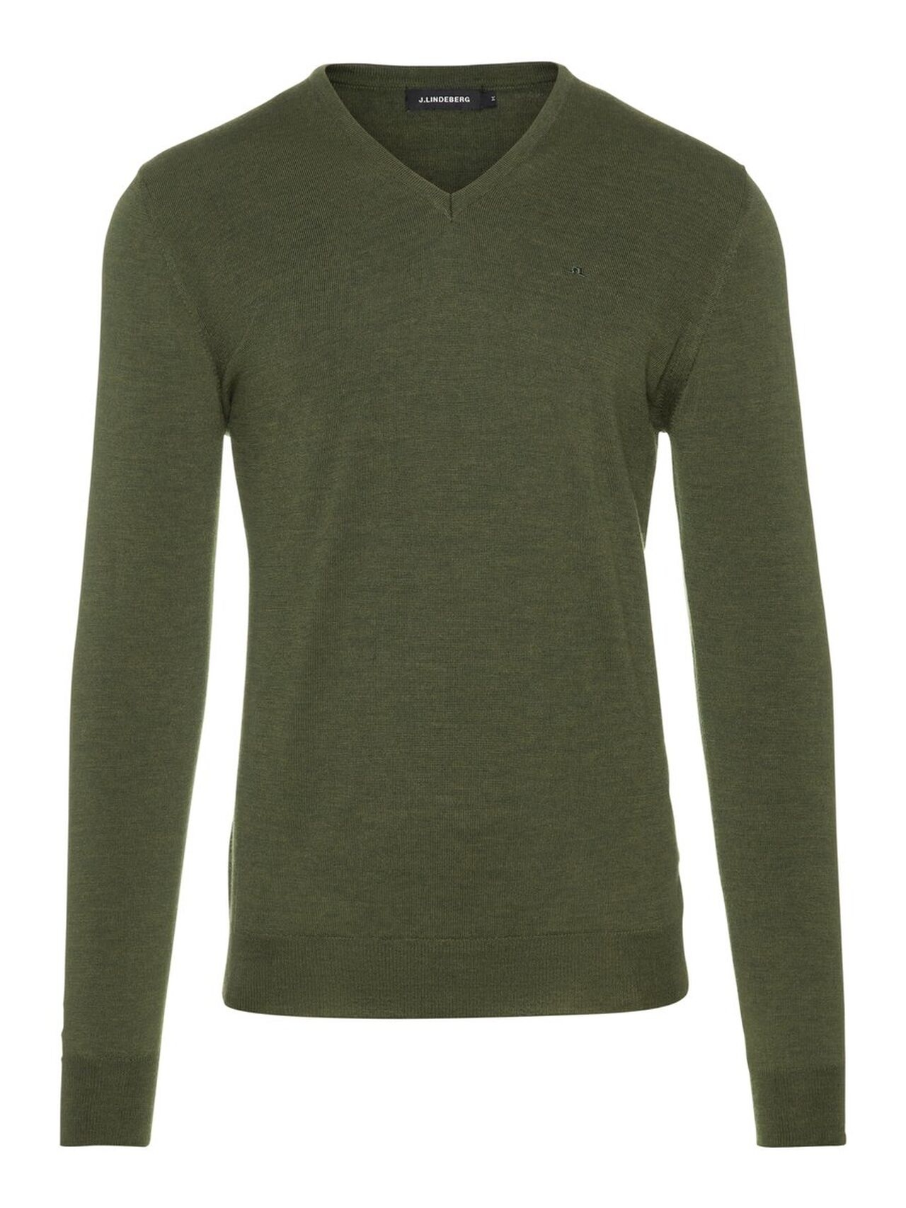 J.LINDEBERG Newman V-neck Perfect Merino Sweater Man Grön