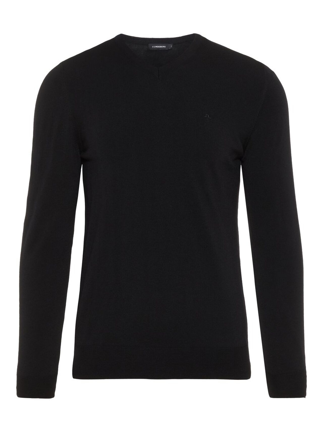 J.LINDEBERG Newman V-neck Perfect Merino Sweater Man Svart