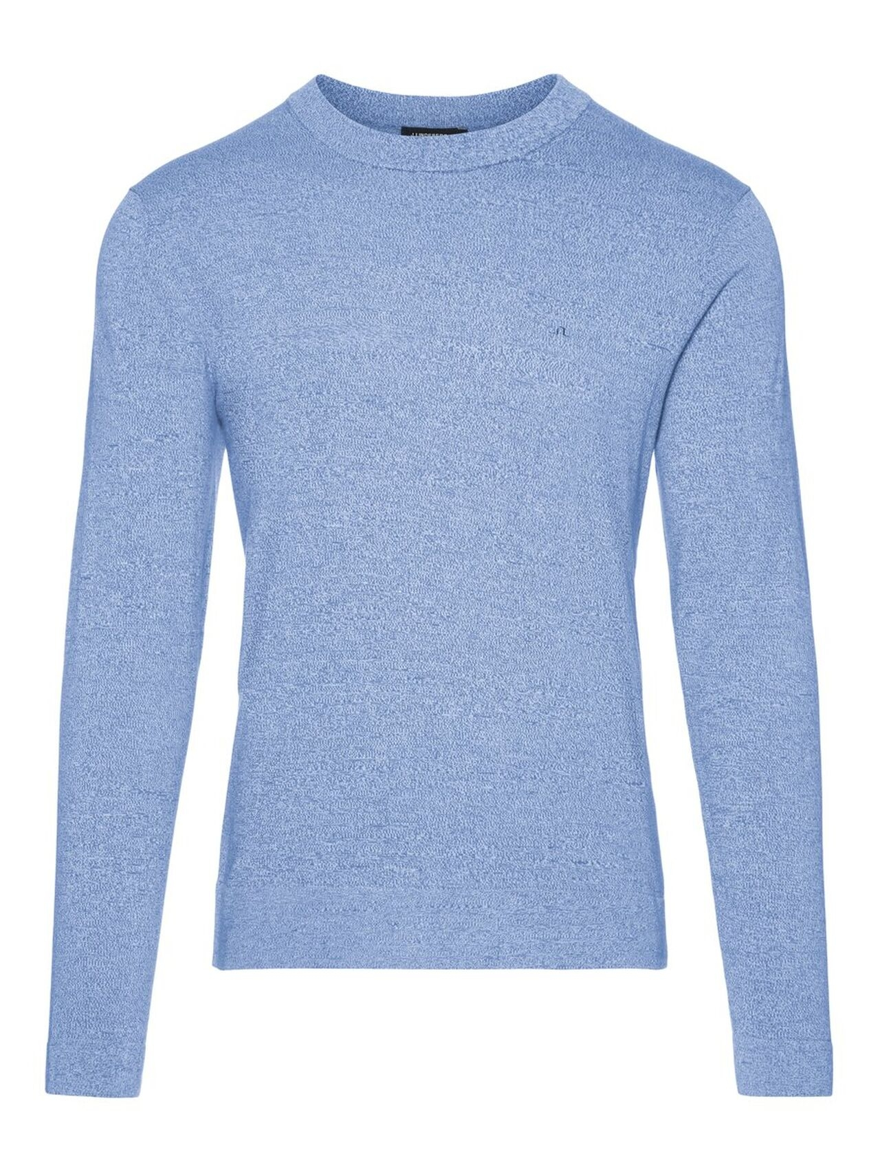 J.LINDEBERG Niklas R-neck Refined Cotton Sweater Man Blå