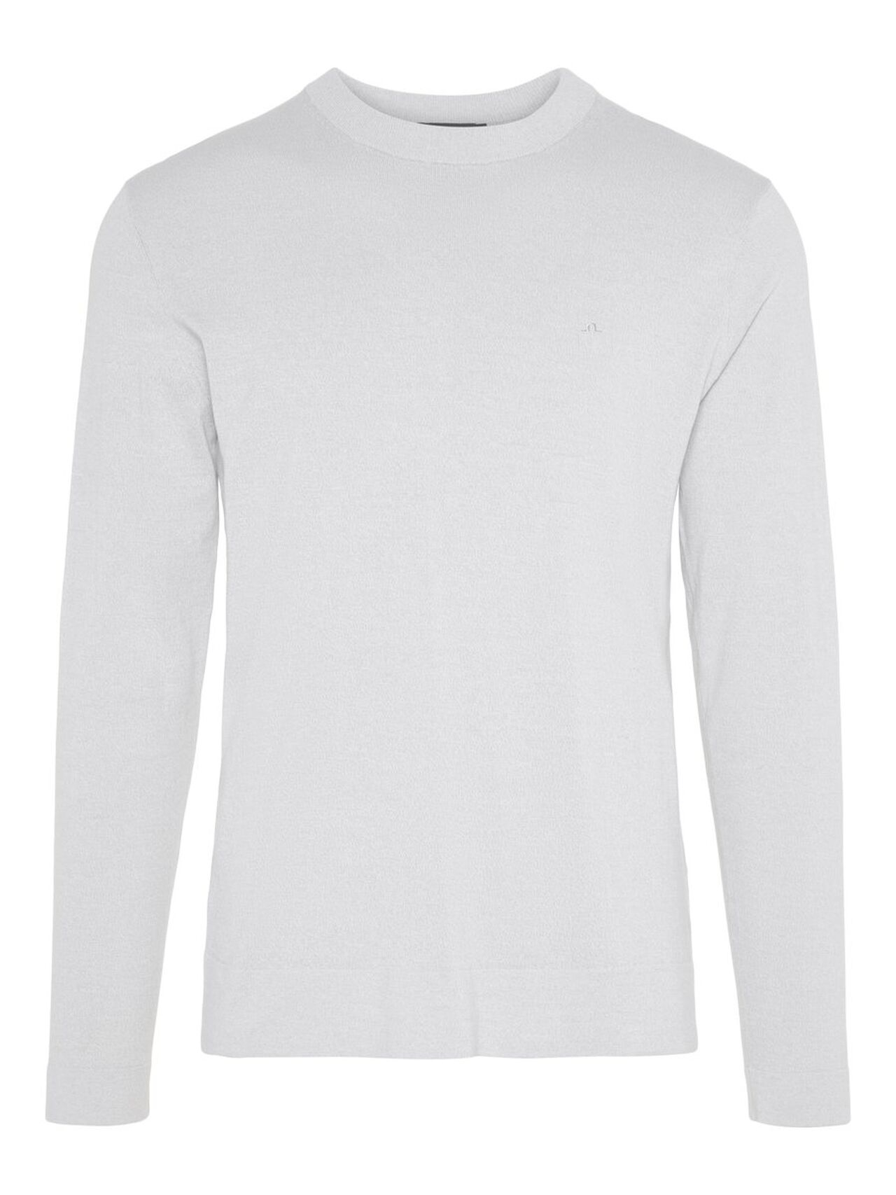 J.LINDEBERG Niklas R-neck Refined Cotton Sweater Man Grå
