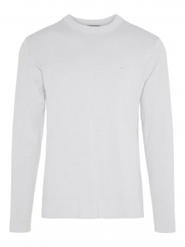J.LINDEBERG Niklas R-neck Refined Cotton Sweater Man Grå