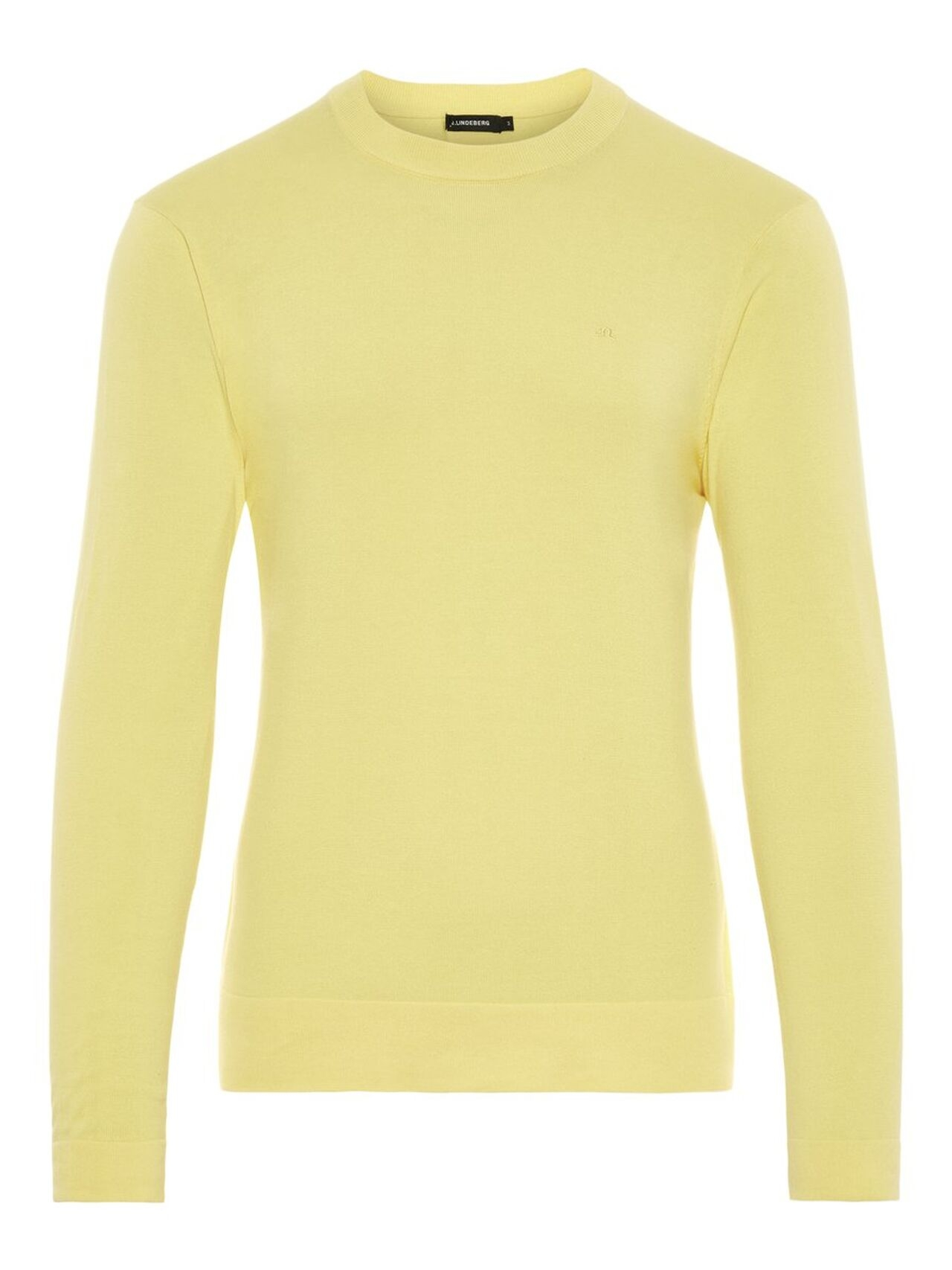 J.LINDEBERG Niklas R-neck Refined Cotton Sweater Man Gul