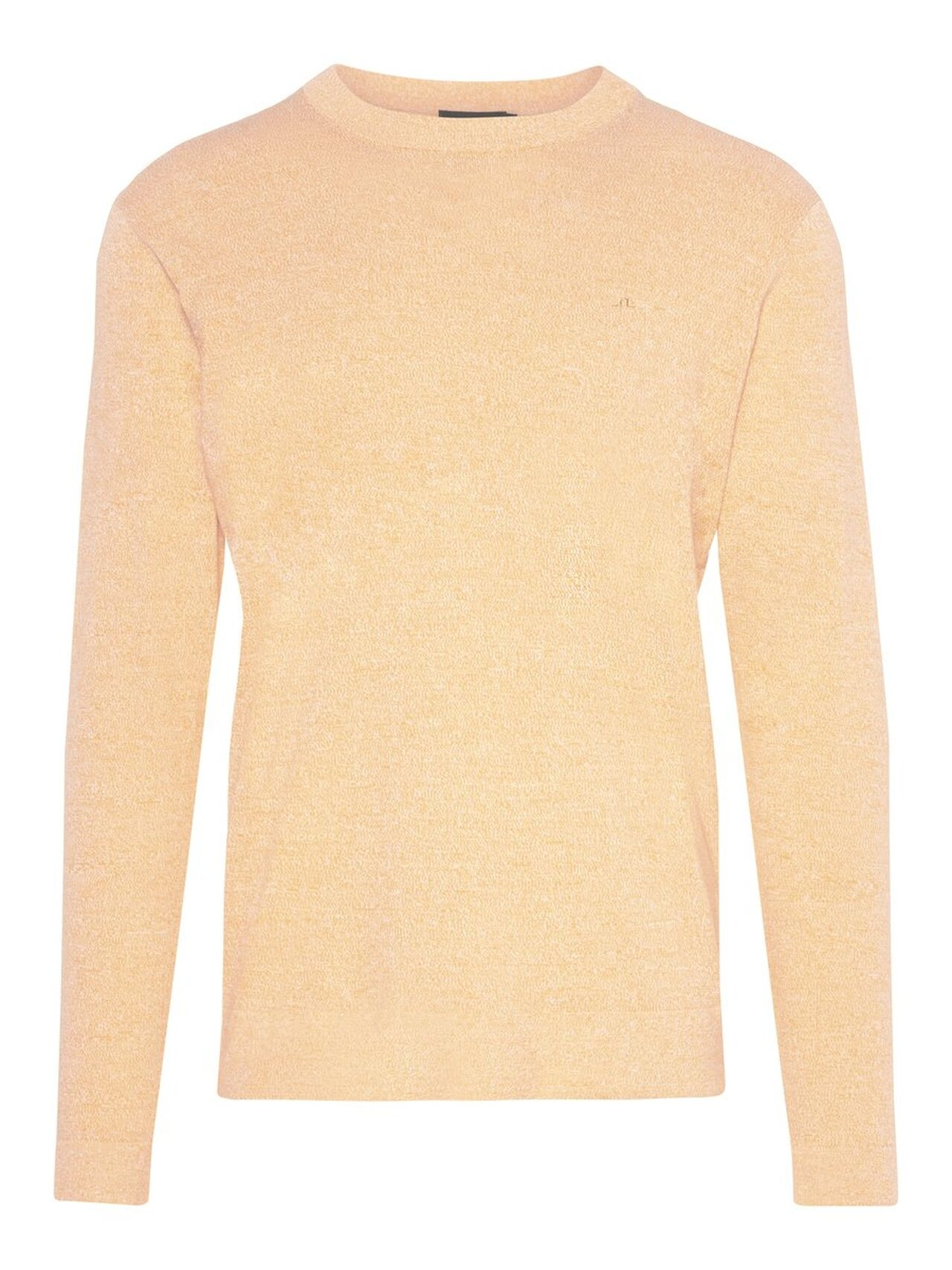 J.LINDEBERG Niklas R-neck Refined Cotton Sweater Man Orange
