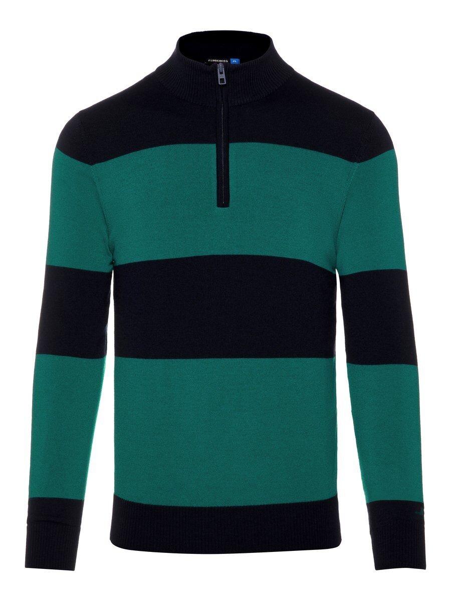 J.LINDEBERG Ramsey 1/4 Zip Tour Merino Sweater Man Blå