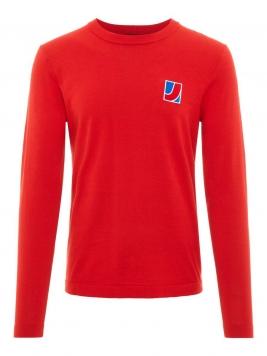 J.LINDEBERG Reno Cotton Sweater Man Röd
