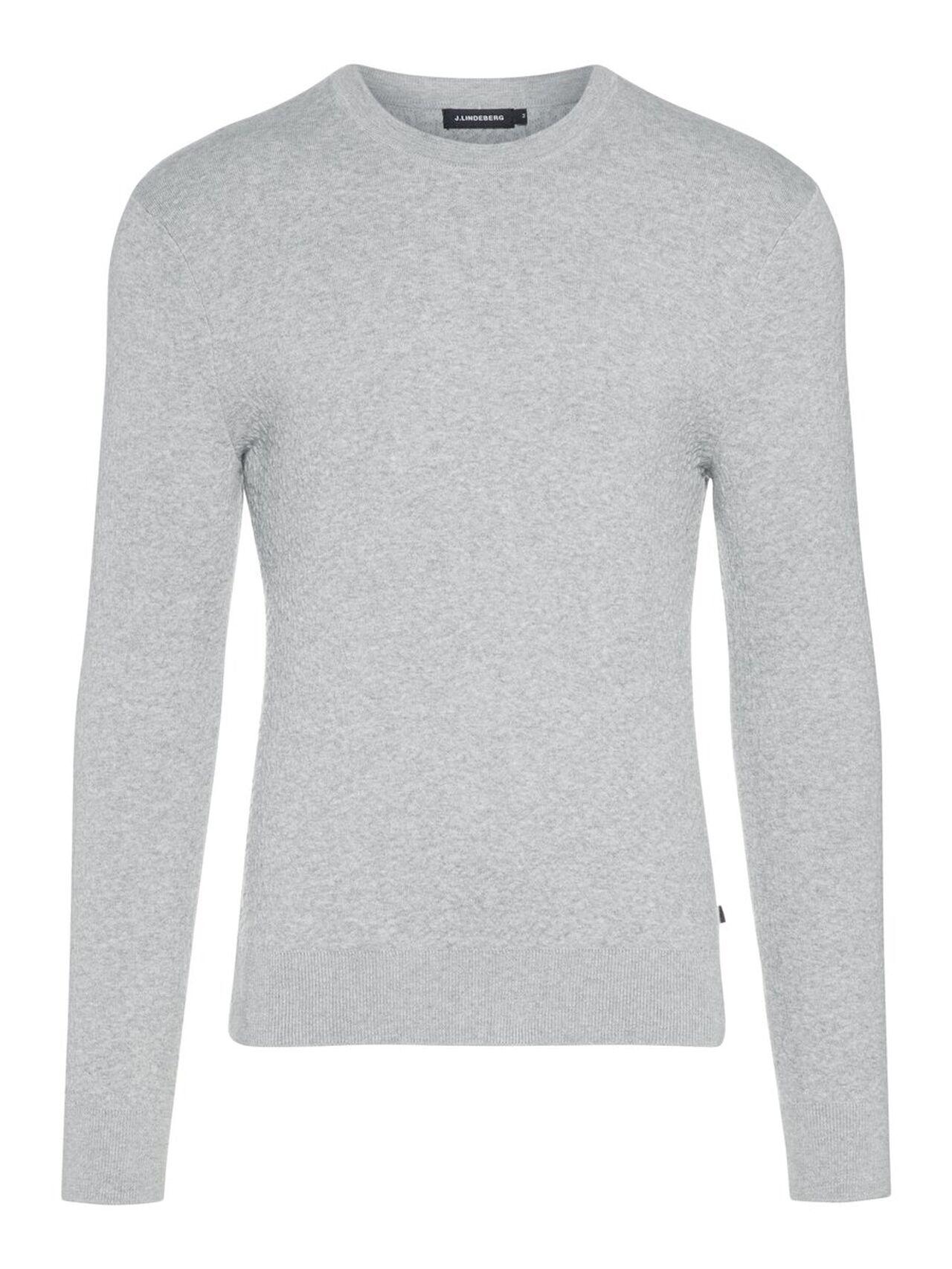 J.LINDEBERG Taylon Micro Crinkled Knit Sweater Man Grå