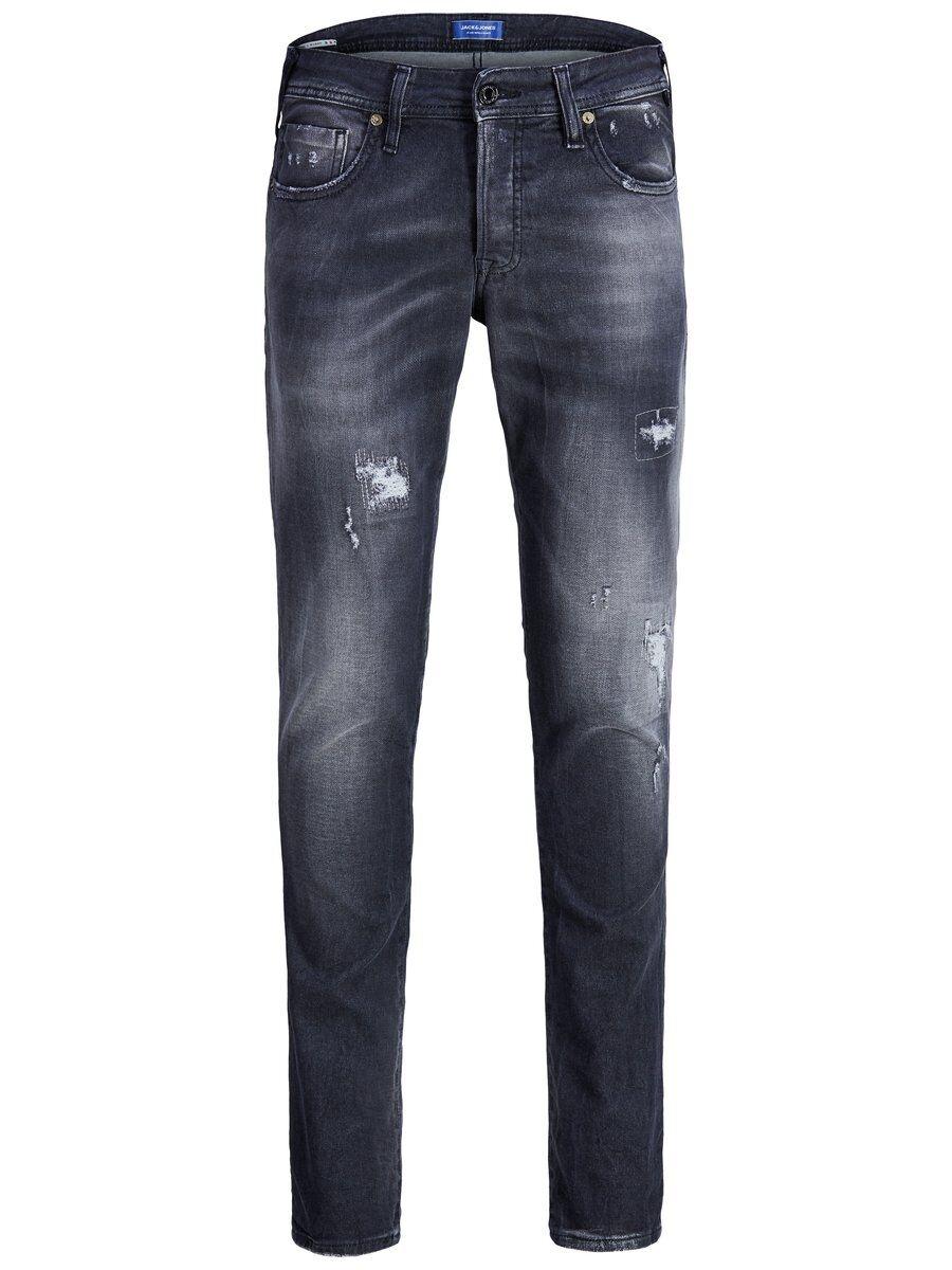JACK & JONES Glenn Rock Bl 856 I.k Ffl Ltd Slim Fit-jeans Man Svart