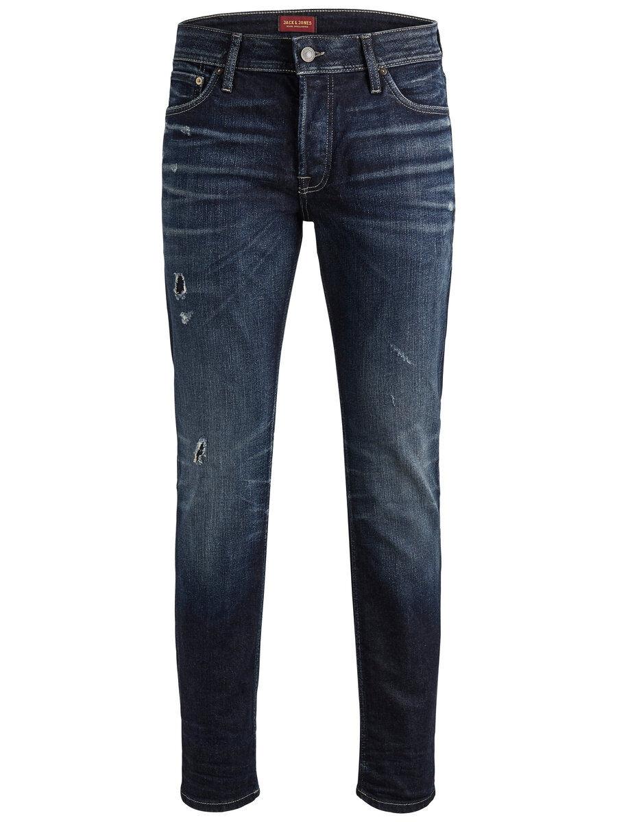 JACK & JONES Jjitim Jjoriginal Jj 117 Lid Sts Slim Fit-jeans Man Blå