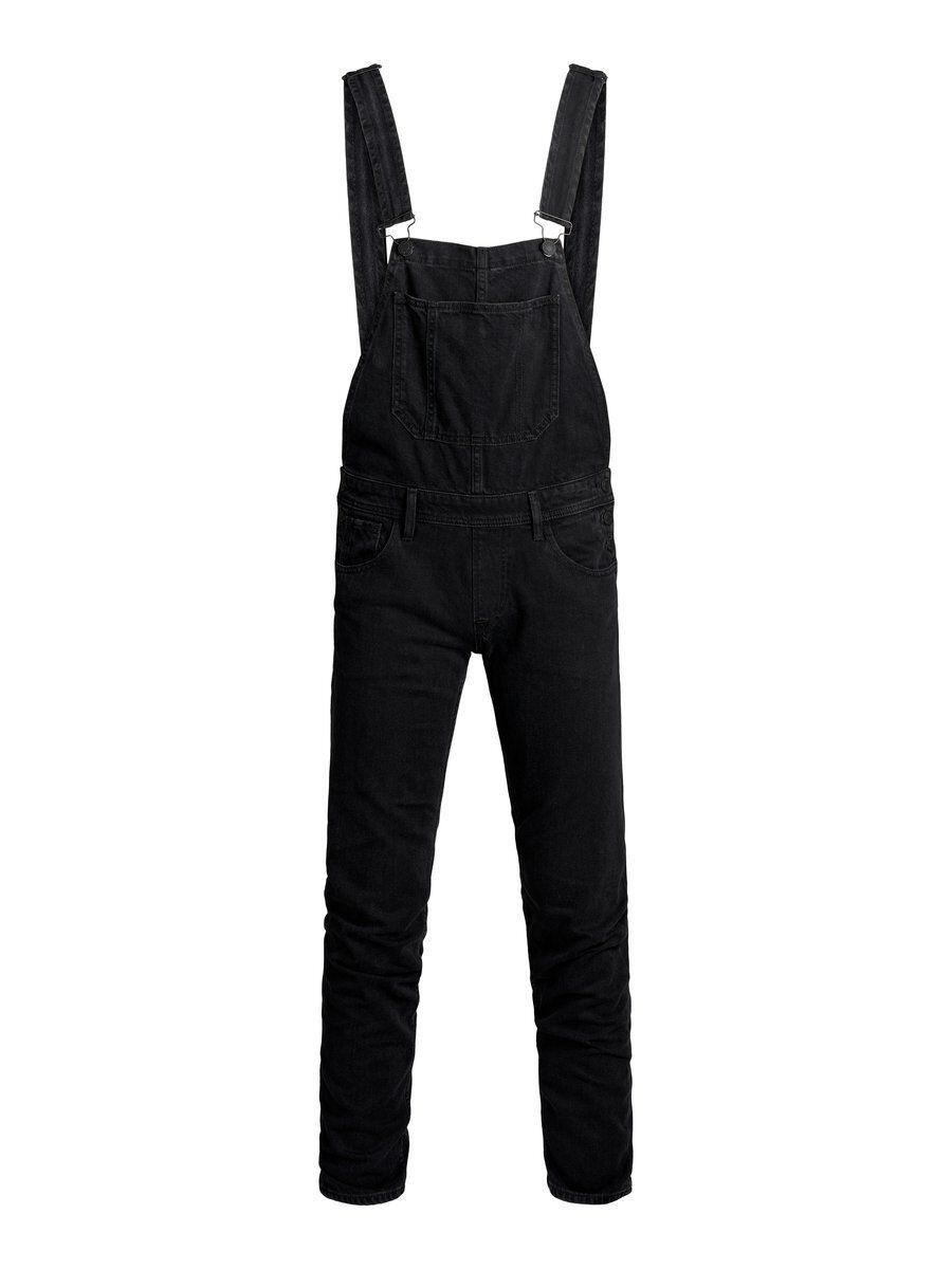 JACK & JONES Mike Dungaree Cj 221 Comfort Fit-jeans Man Svart