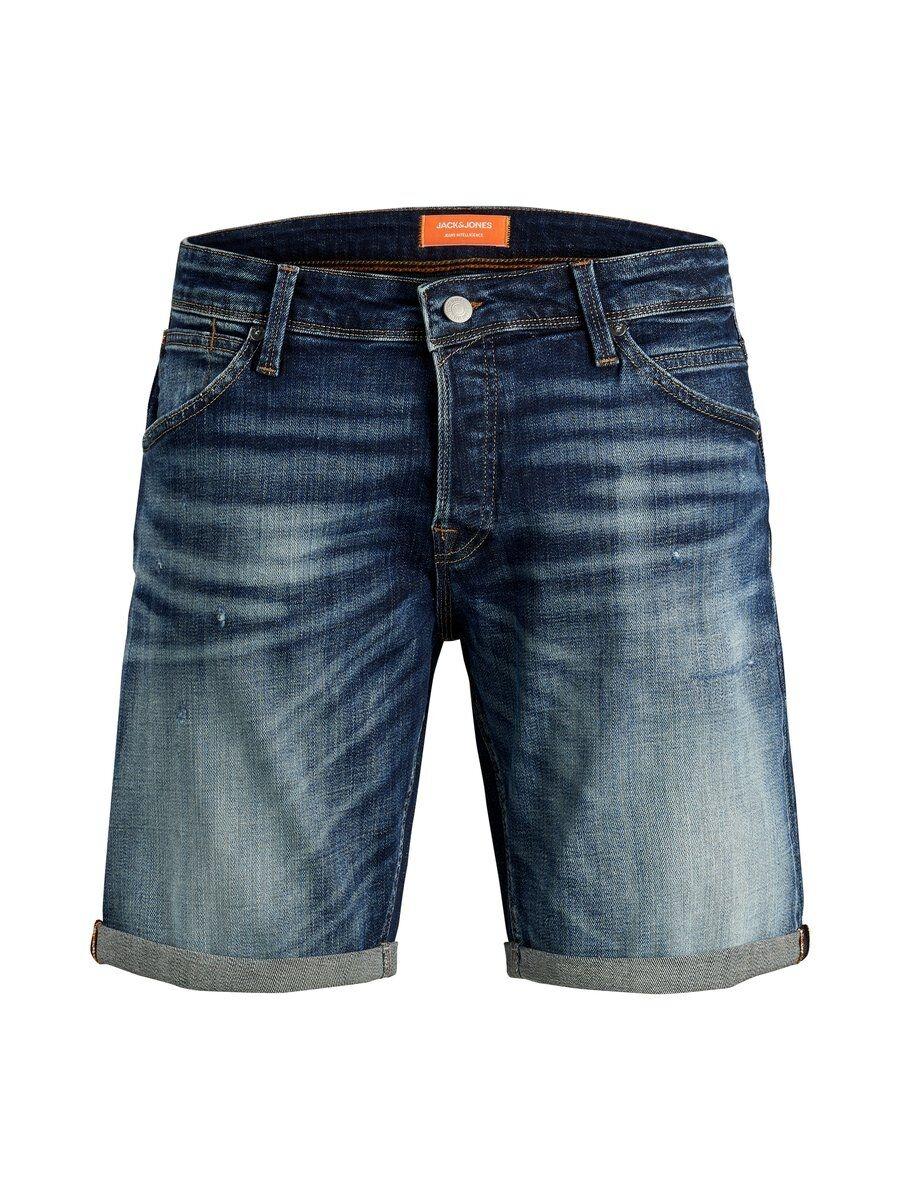 JACK & JONES Superstretchiga Sönderrivna Jeansshorts Man Blå
