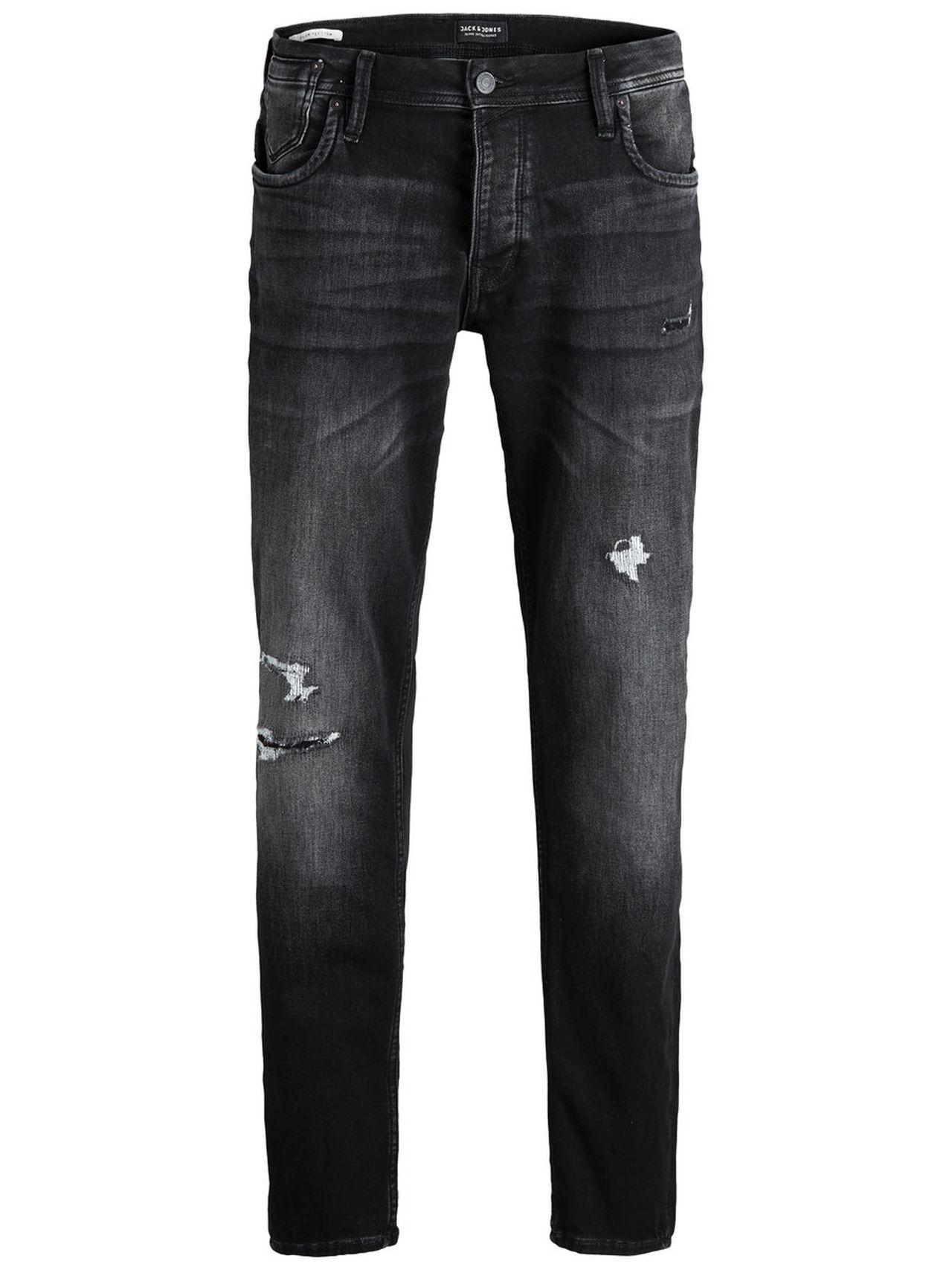 JACK & JONES Tim Leon Ge 412 Slim Fit Jeans Man Svart