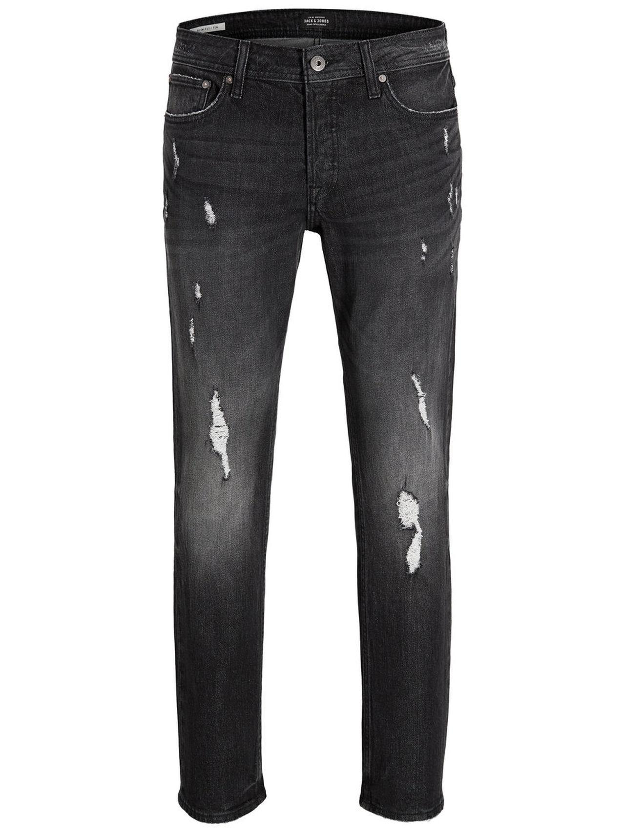 JACK & JONES Tim Original Cr 020 Slim Fit Jeans Man Svart