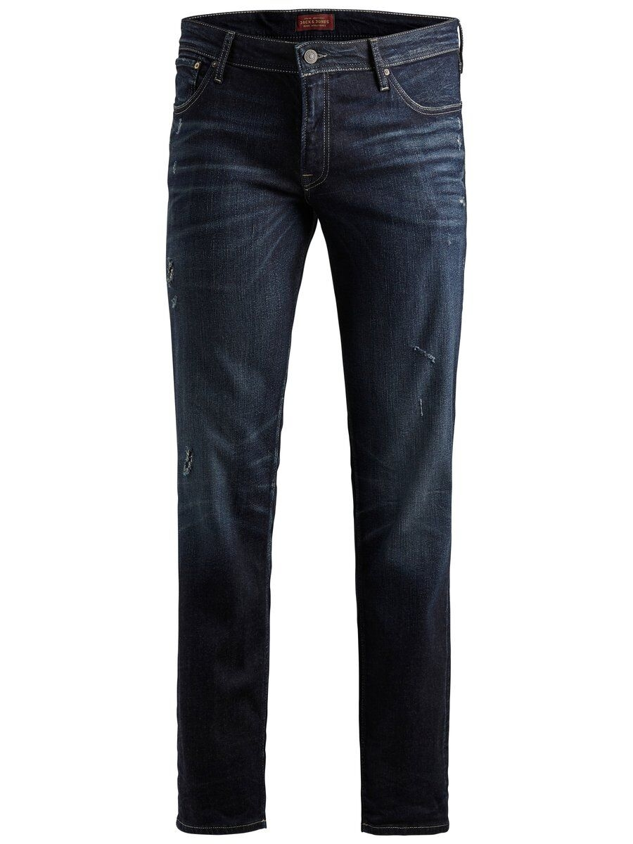 JACK & JONES Tim Original Jj 117 Lid Ps Slim Fit-jeans I Plus Size Man Blå