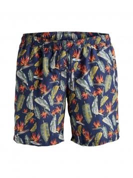 JACK & JONES Tryckta Plus Size-shorts Man Blå