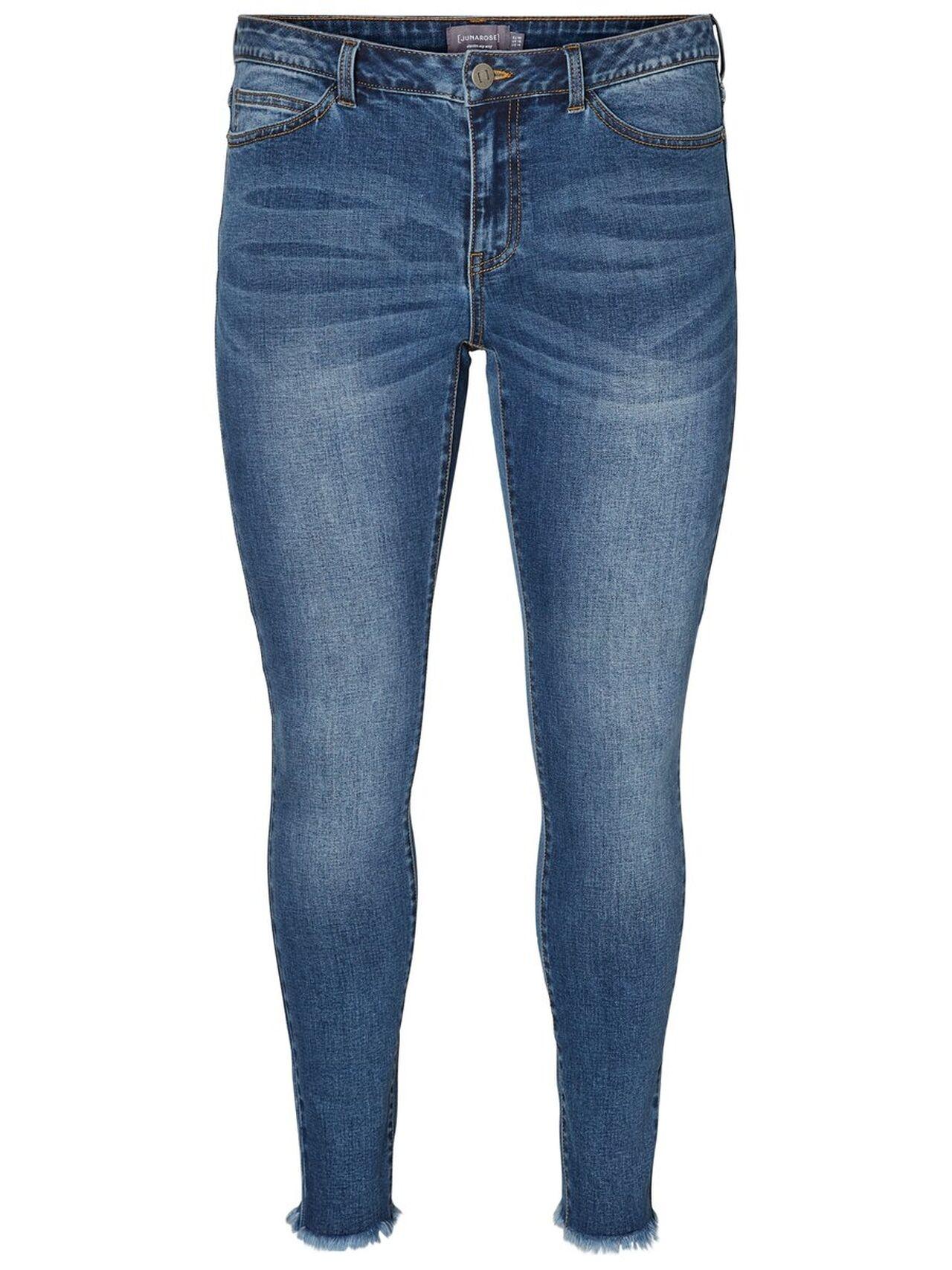 JUNAROSE Slim Fit Jeans Kvinna Blå
