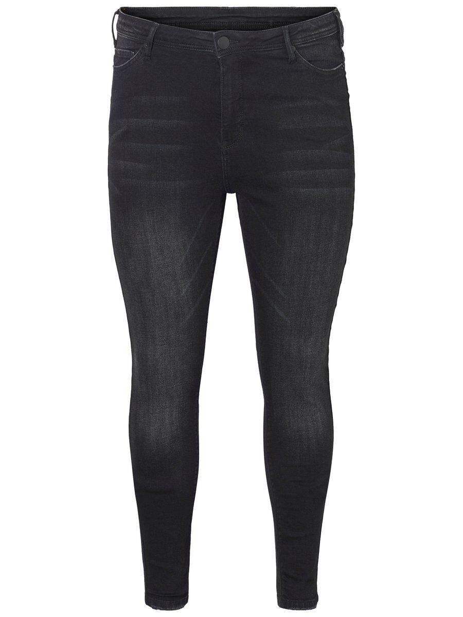JUNAROSE Tvättade Slim Fit-jeans Kvinna Svart
