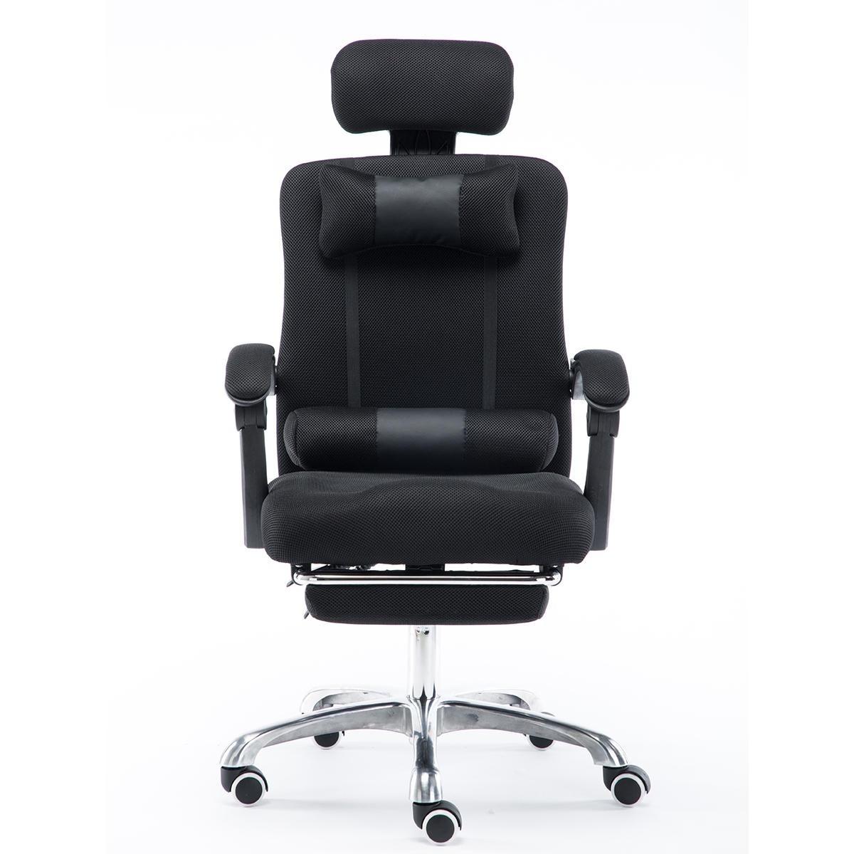 Justerbar ergonomisk kontorsstol Mesh Seat Recliner Executive Racing Gaming Dator Bärbar skrivbord Stol