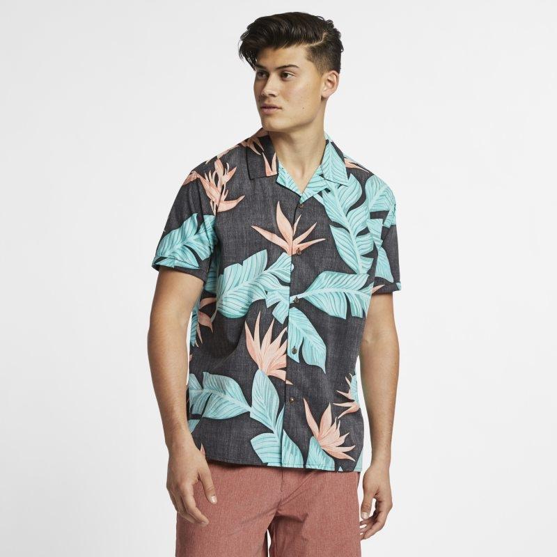 Kortärmad tröja Hurley Hanoi för män – Svart