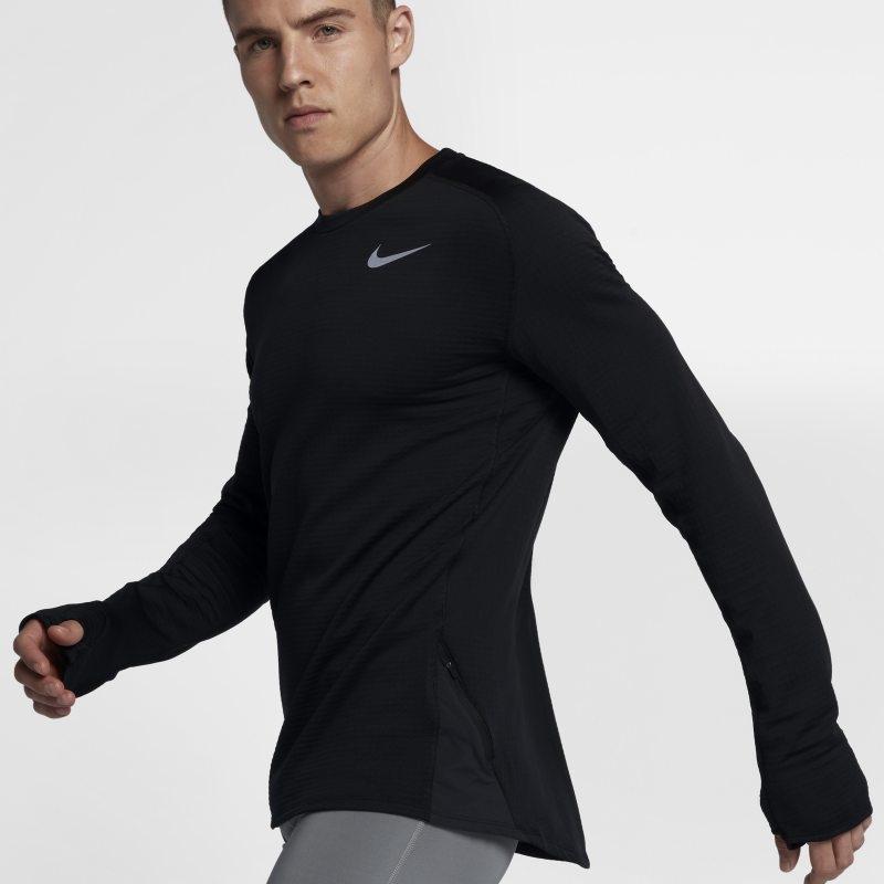 Långärmad löpartröja Nike Therma Sphere Element för män – Svart
