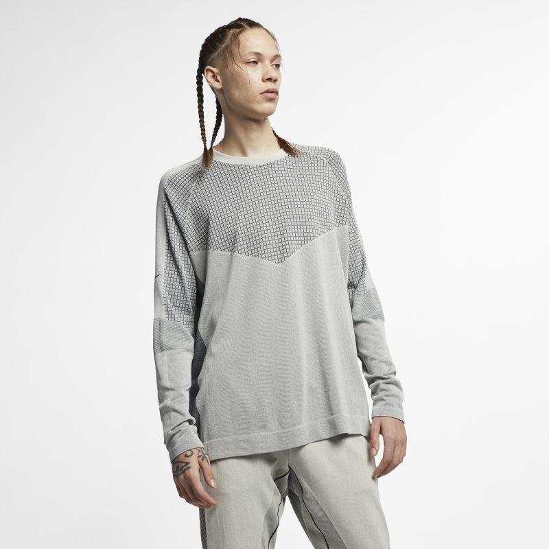 Långärmad stickad tröja Nike Sportswear Tech Pack för män – Cream
