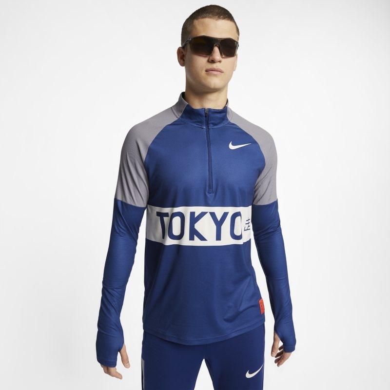 Löpartröja Nike med halv dragkedja för män – Blå