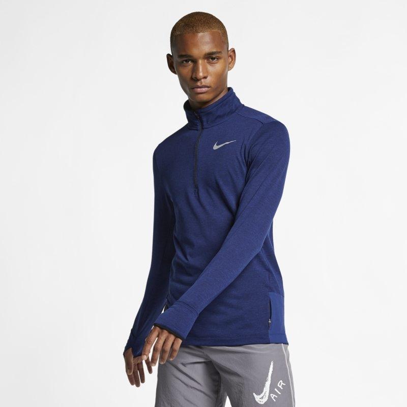 Löpartröja med halv dragkedja Nike Therma Sphere för män – Blå