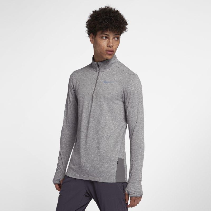 Löpartröja med halv dragkedja Nike Therma Sphere för män – Grå