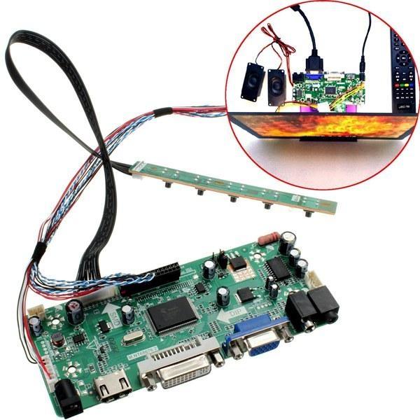 LCD-styrenhet 40P 8-bitars HD DVI VGA-ljudmodulsats för B156XW02 15,6 tums skärm
