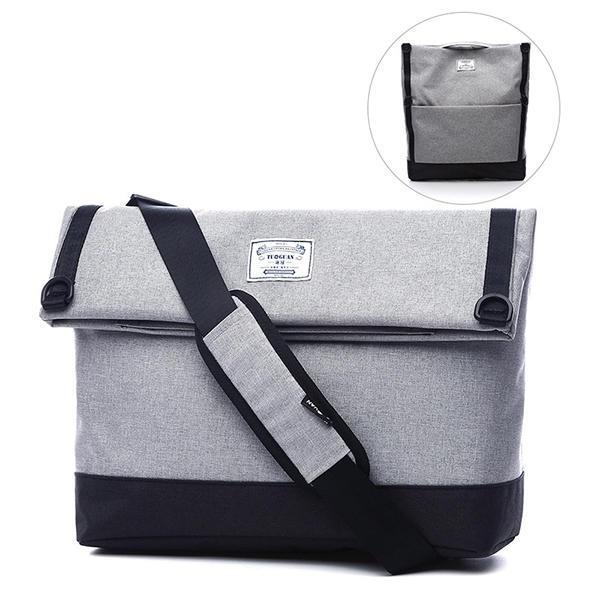 Män Multi-Function Messenger Bag Axelväska Väska för 14 tums bärbara datorer