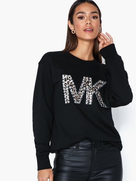 Michael Michael Kors Emb Cheetah Logo Bf Sweatshirts
