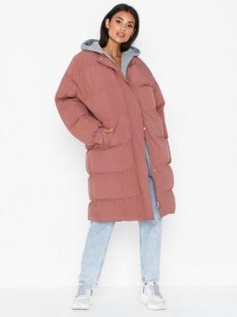 Missguided Longline Puffer Jacket Dunjackor