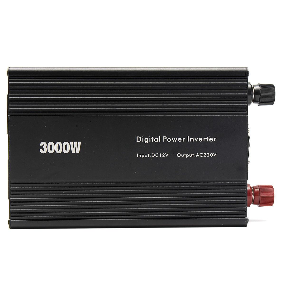 Modifierad Sine Wave Power Inverter 3000W (6000W Max) DC12V till AC110V / 220V Car Home