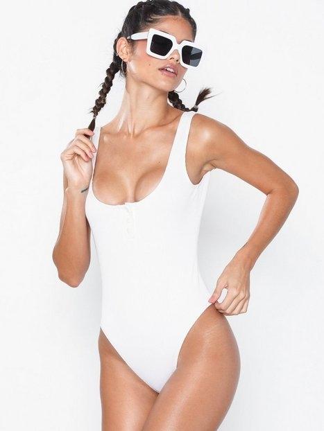 NLY Beach Button Rib Swimsuit Baddräkter