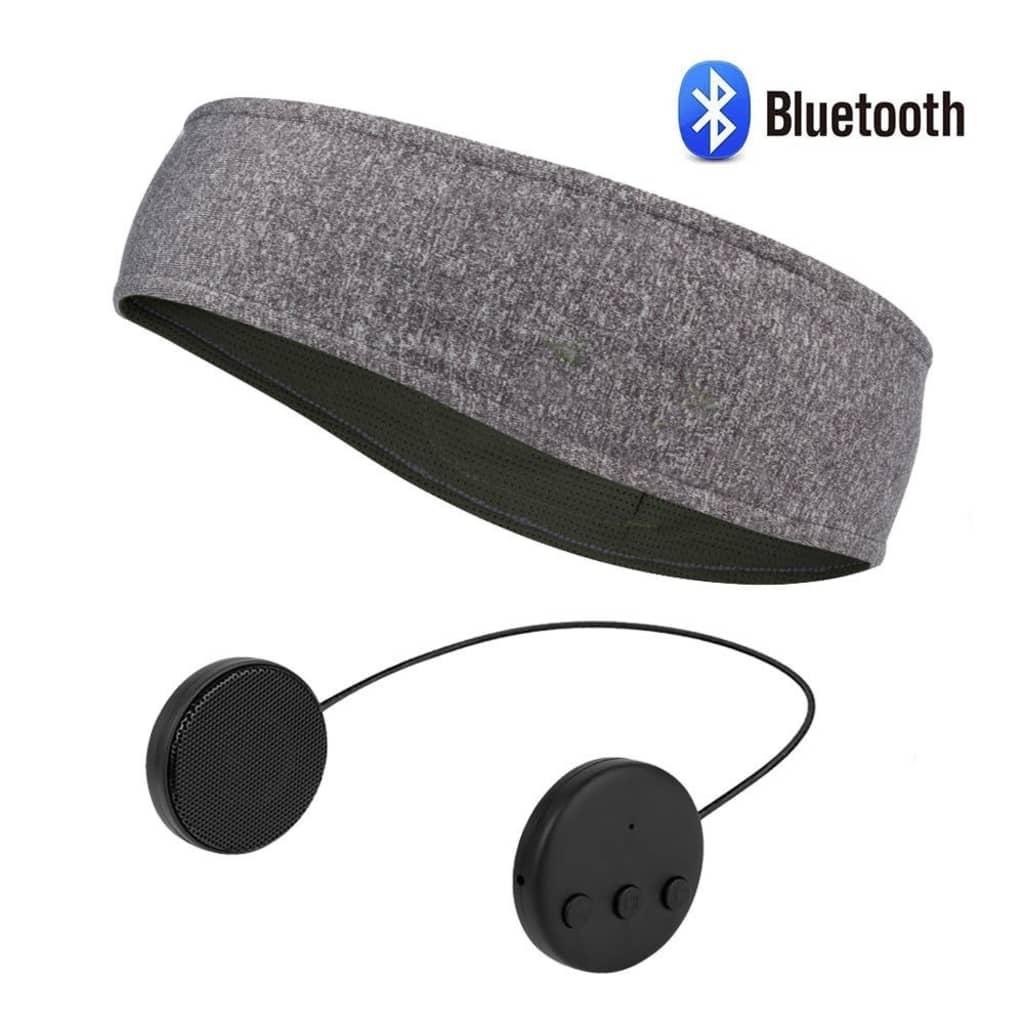 NULL Pannband med Bluetooth hörlurar och mikrofon – grå