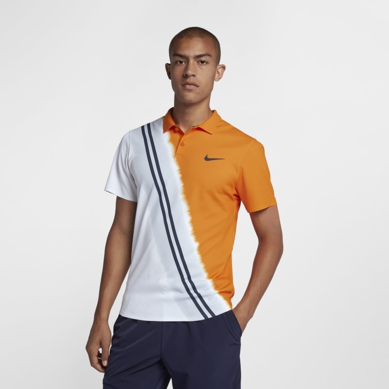 NikeCourt Advantage tennispikétröja för män – Orange