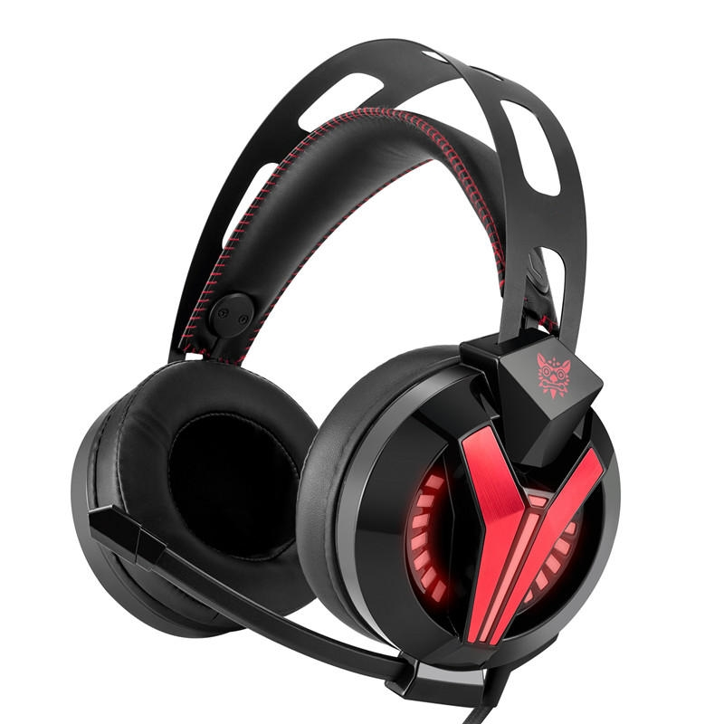 ONIKUMA M180 Gaming Hörlursdiodlampa Professionell brusreducering Wired Control Headset With Flexible Mic