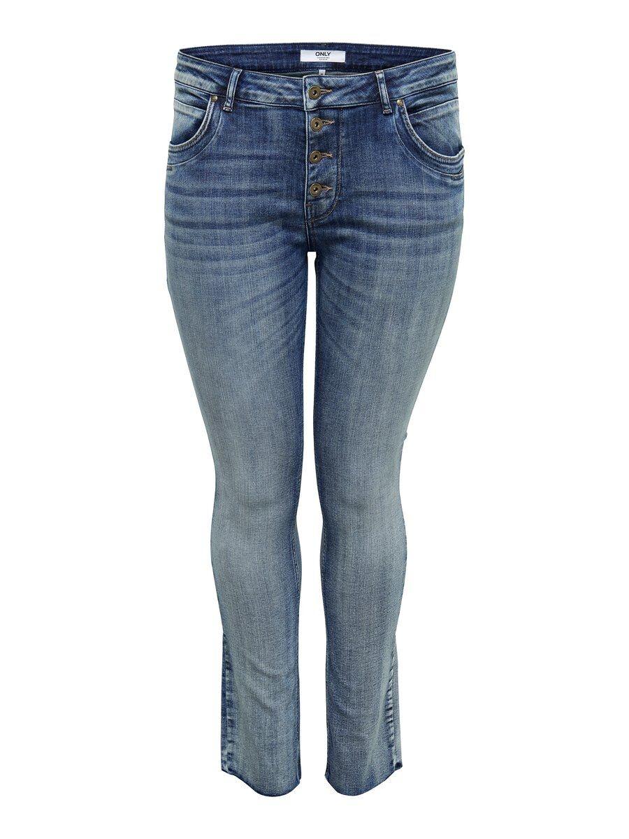 ONLY Curvy Carkriss Reg Straight Fit-jeans Kvinna Blå