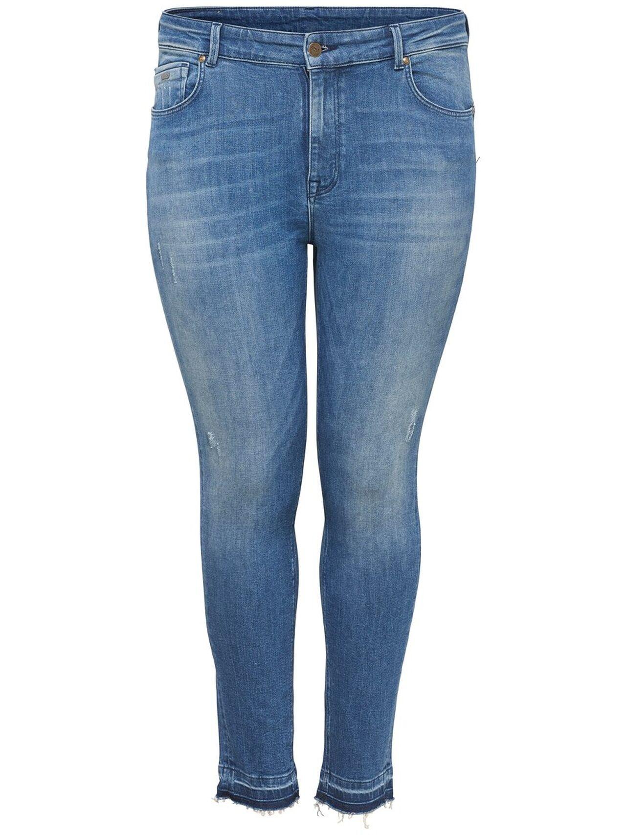 ONLY Curvy Cartristan Reg Ankle Push Up Slim Fit Jeans Kvinna Blå