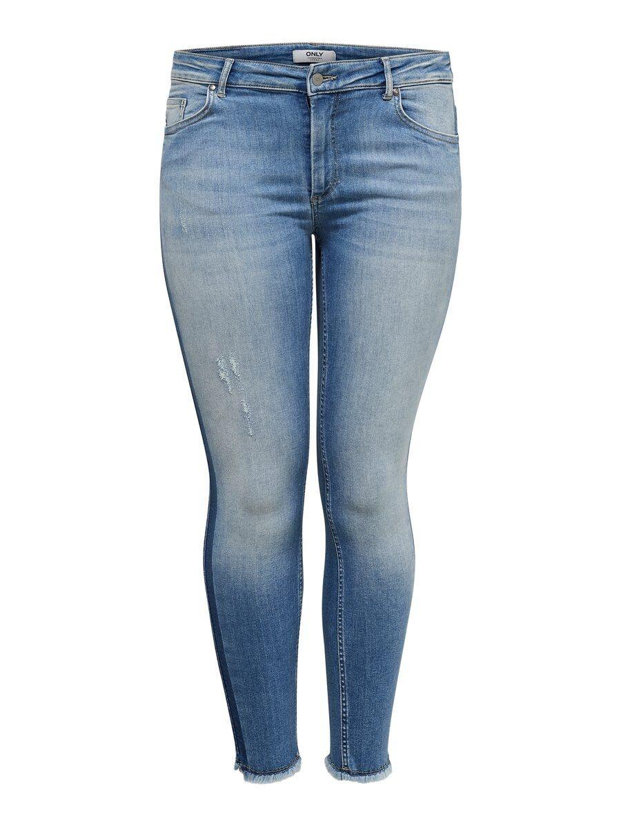 ONLY Curvy Carwilly Ankle Panel Skinny Fit-jeans Kvinna Blå