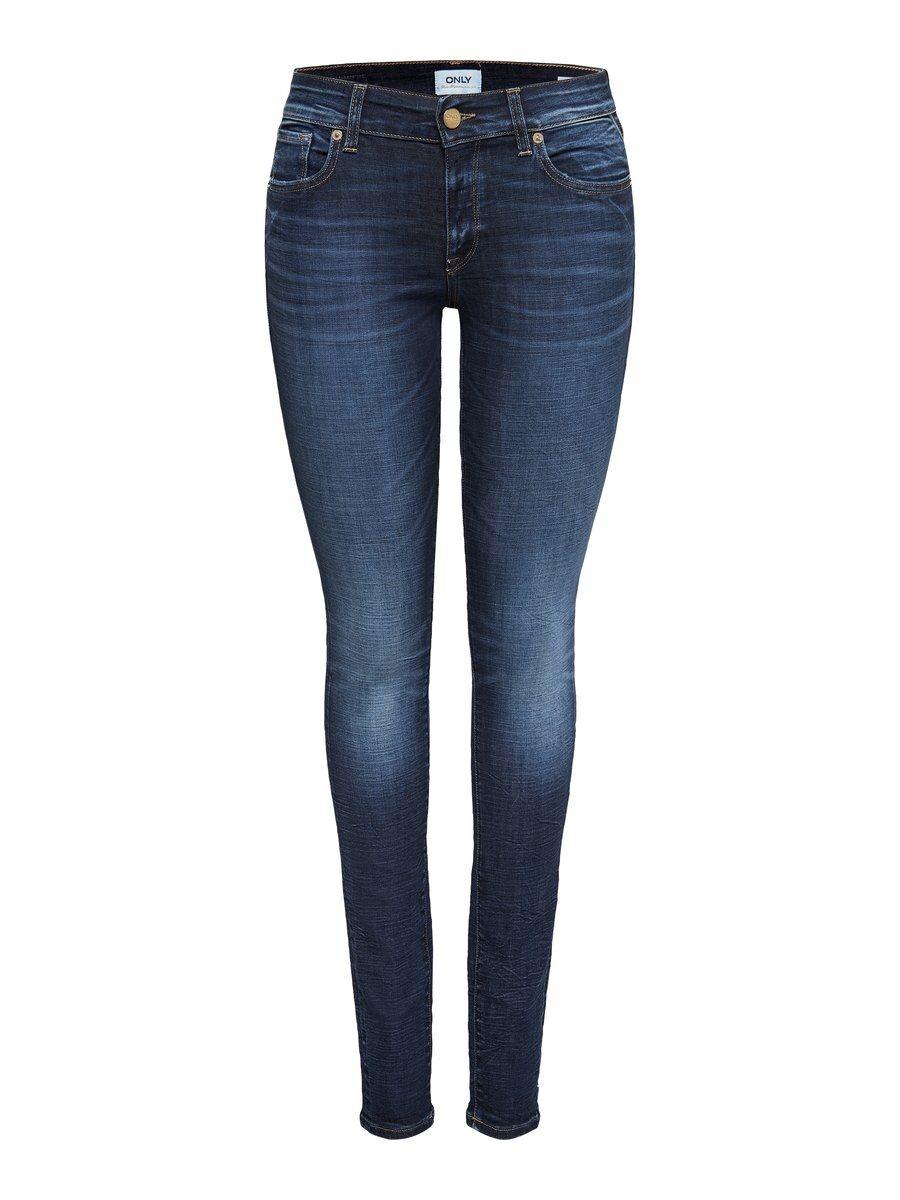 ONLY Onlalba Reg Skinny Fit-jeans Kvinna Blå